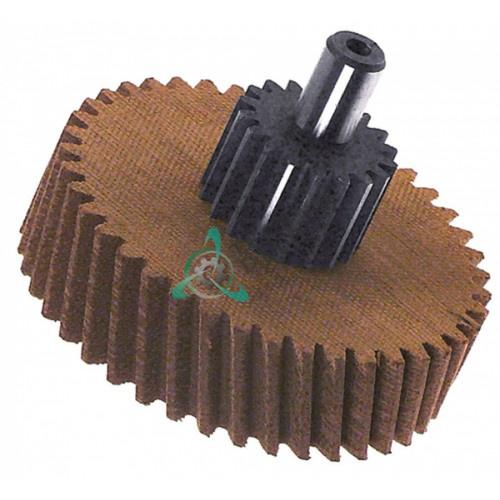 Шестерня двойная 18/41 зубцов для льдогенератора Electrolux, Icematic, Scotsman (арт. 086284 / 65116000)